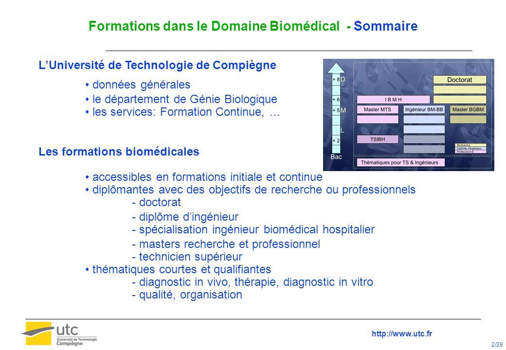 Mastère Spécialisé Equipements Biomédicaux Cycle IBMH Université de Technologie de Compiègne France Ecole Nationale de la Santé Publique