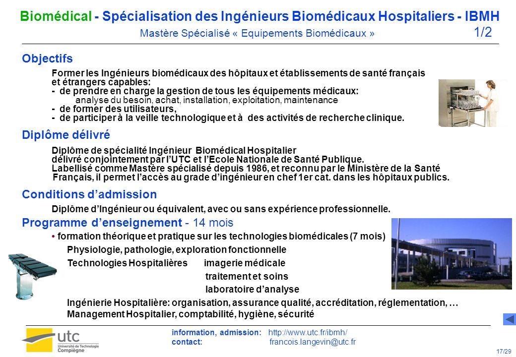 D M L Bac UTC - Formations dans le domaine Biomédical