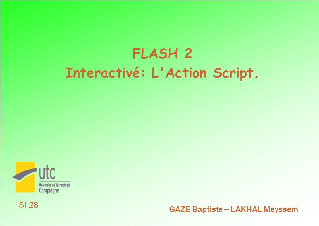 Interactivé: L Action Script.