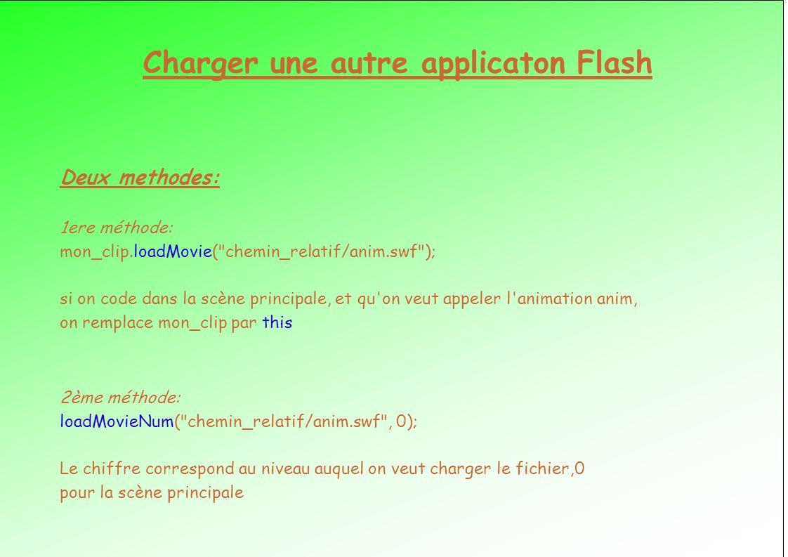 Charger une autre applicaton Flash
