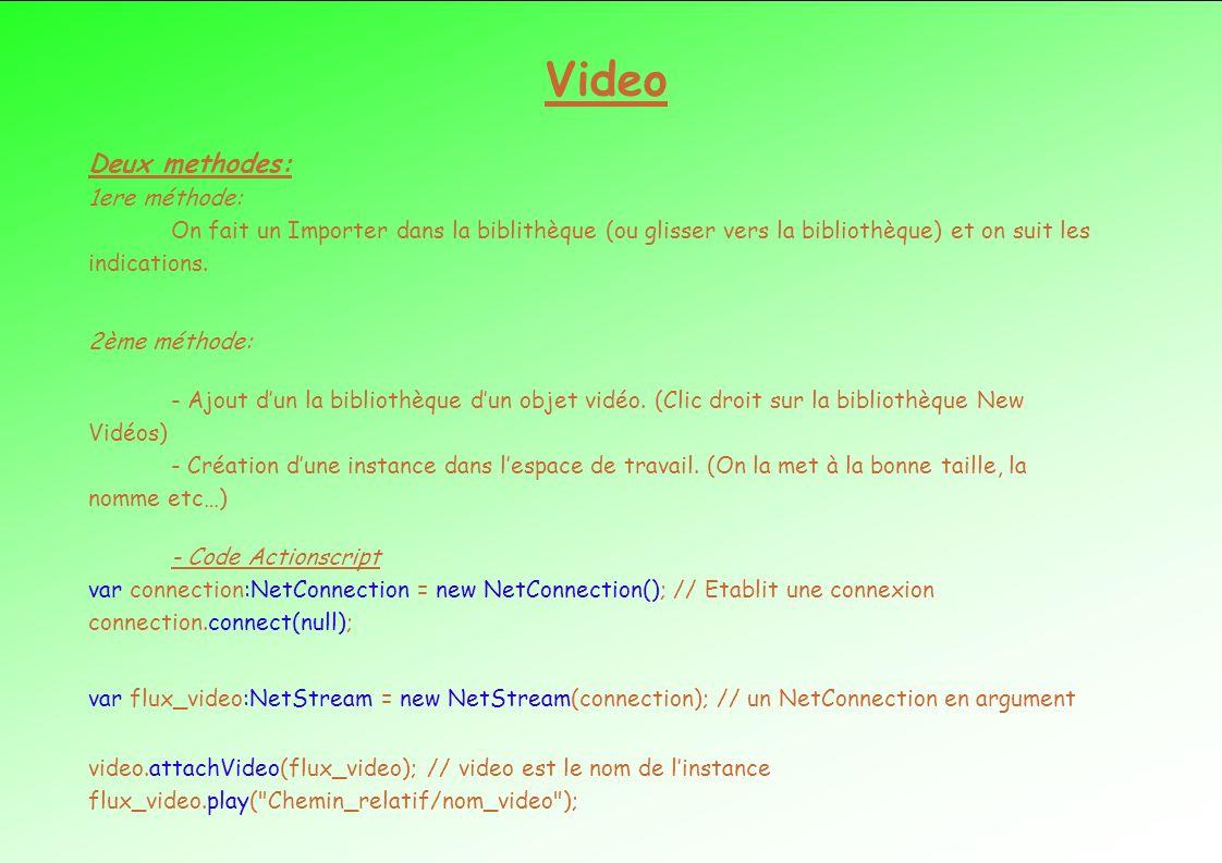 Video Deux methodes: 1ere méthode: