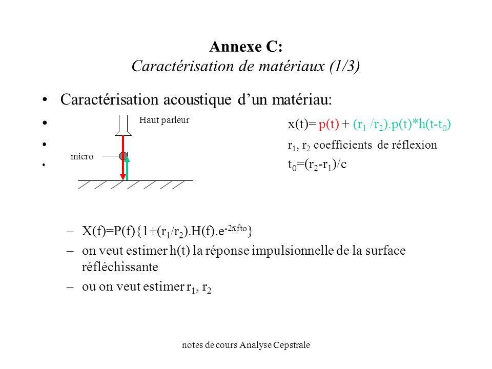 Annexe C: Caractérisation de matériaux (1/3)