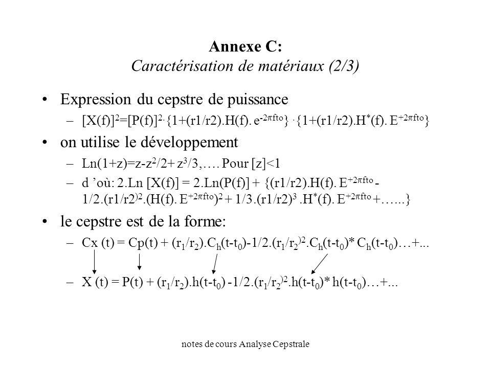 Annexe C: Caractérisation de matériaux (2/3)