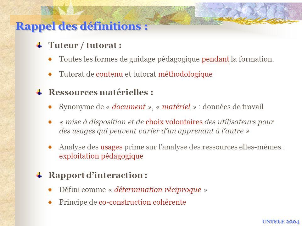 Rappel des définitions :