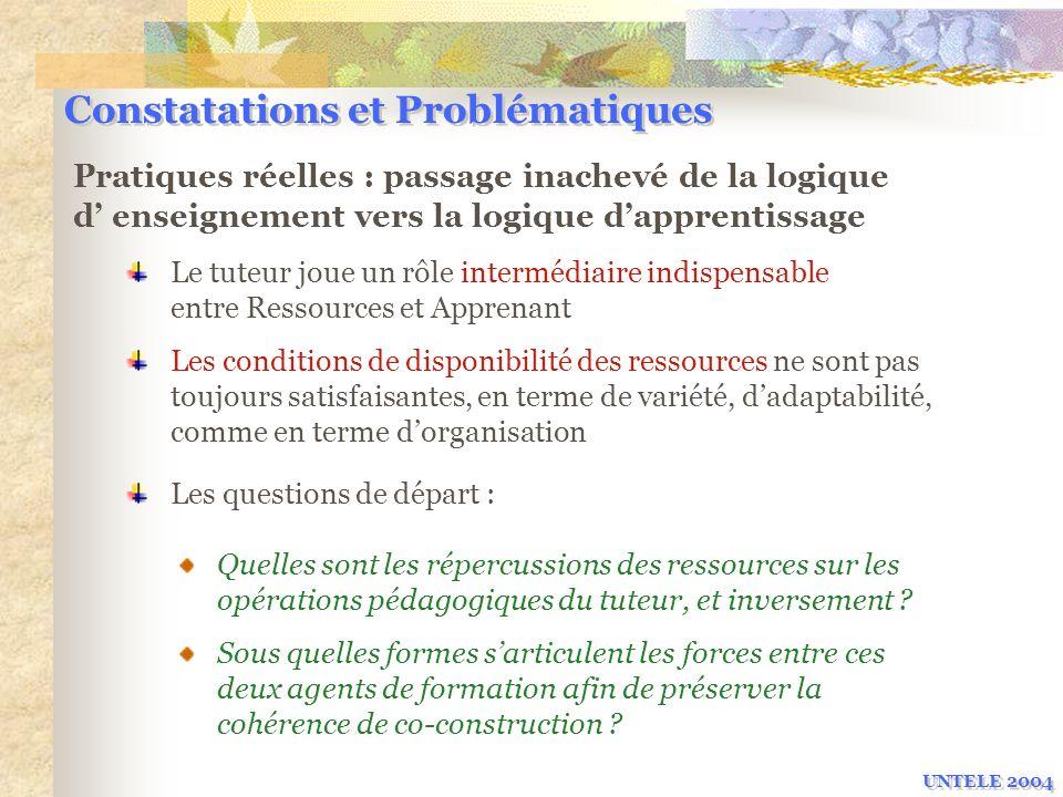 Constatations et Problématiques