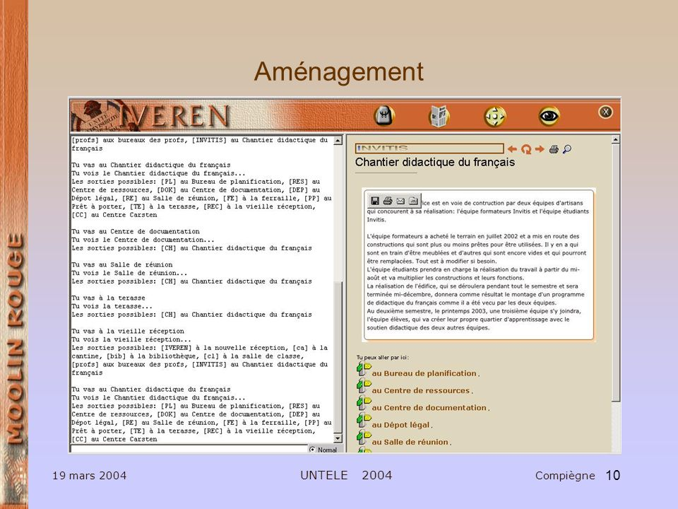 Aménagement Coco M. 26/03/2017 UNTELE 2004