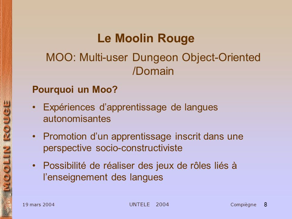 MOO: Multi-user Dungeon Object-Oriented