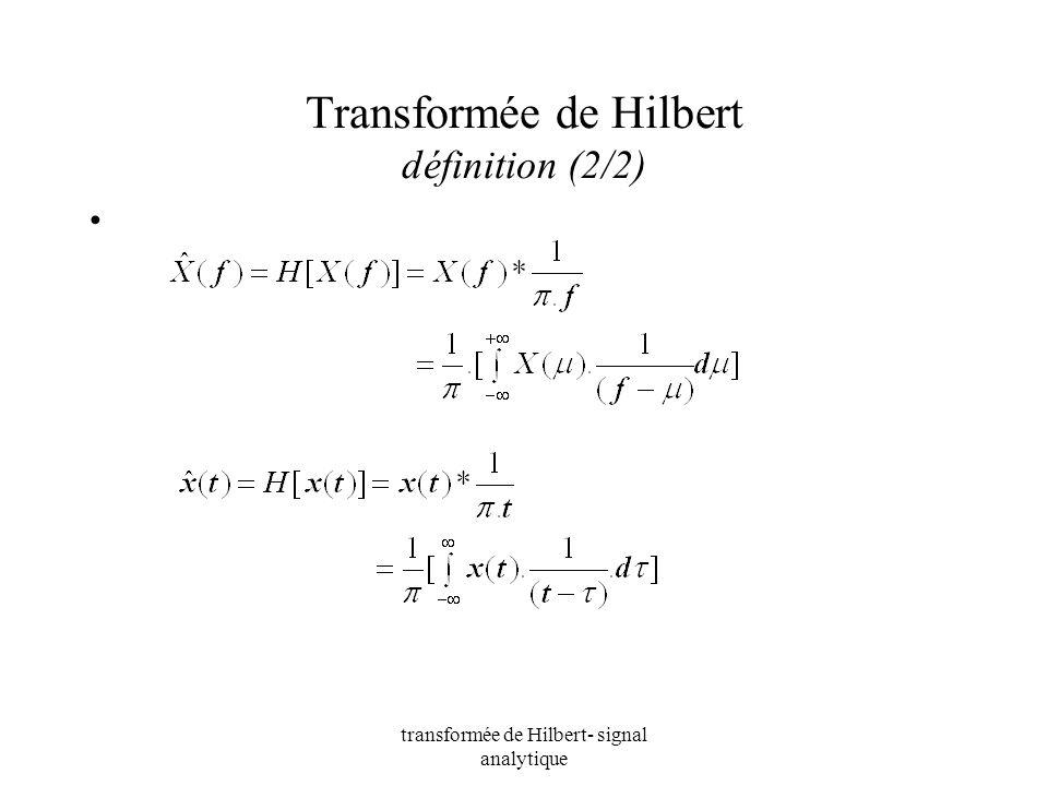 Transformée de Hilbert définition (2/2)