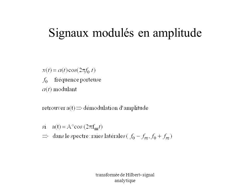 Signaux modulés en amplitude