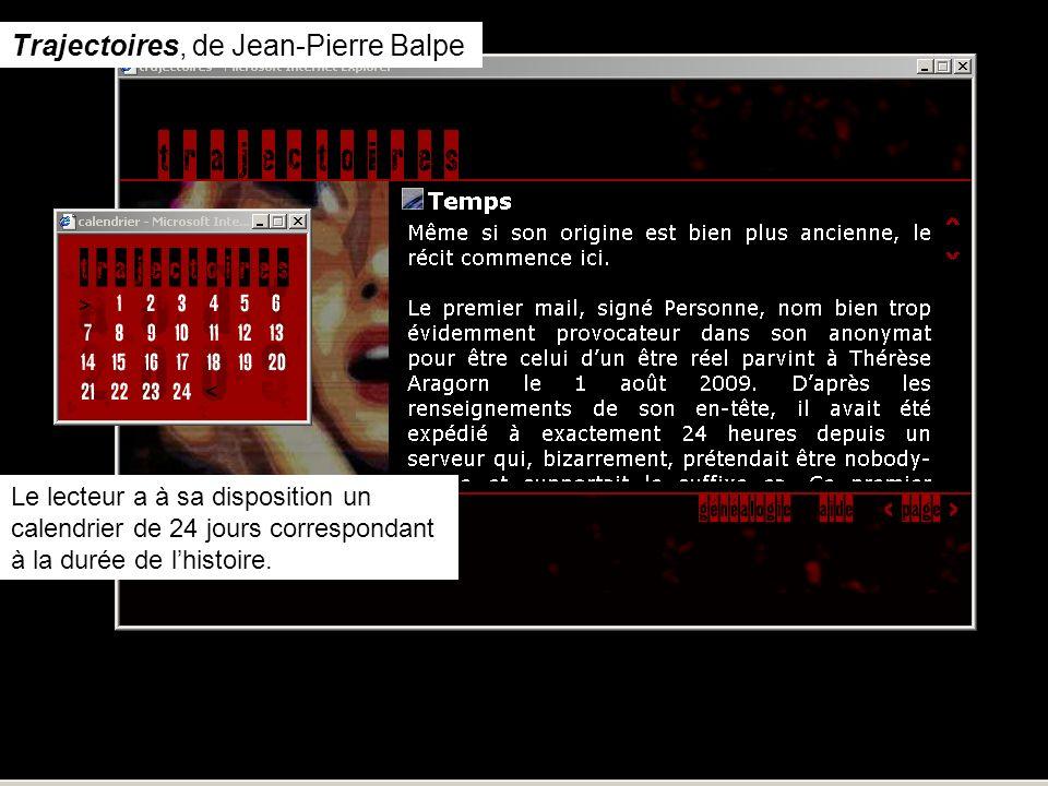 Trajectoires, de Jean-Pierre Balpe