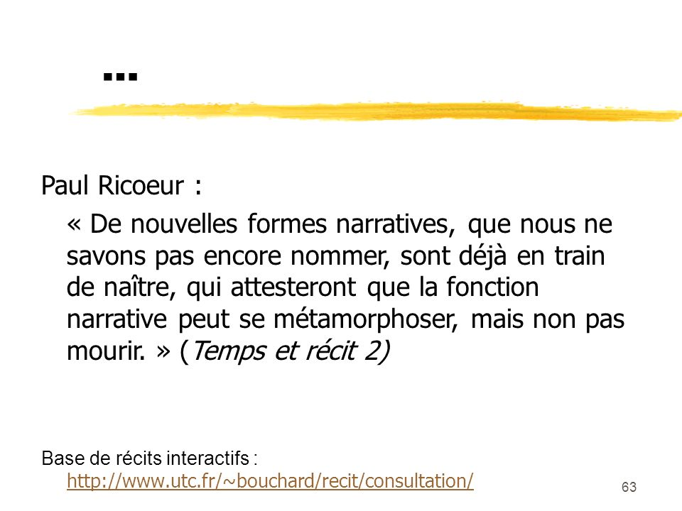 … Paul Ricoeur :
