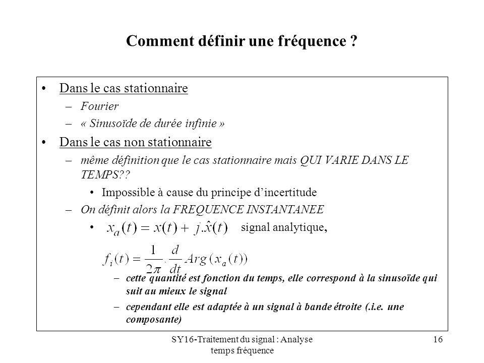 Comment définir une fréquence
