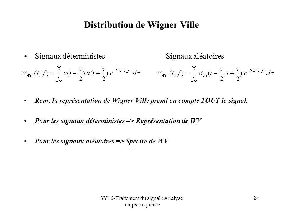Distribution de Wigner Ville