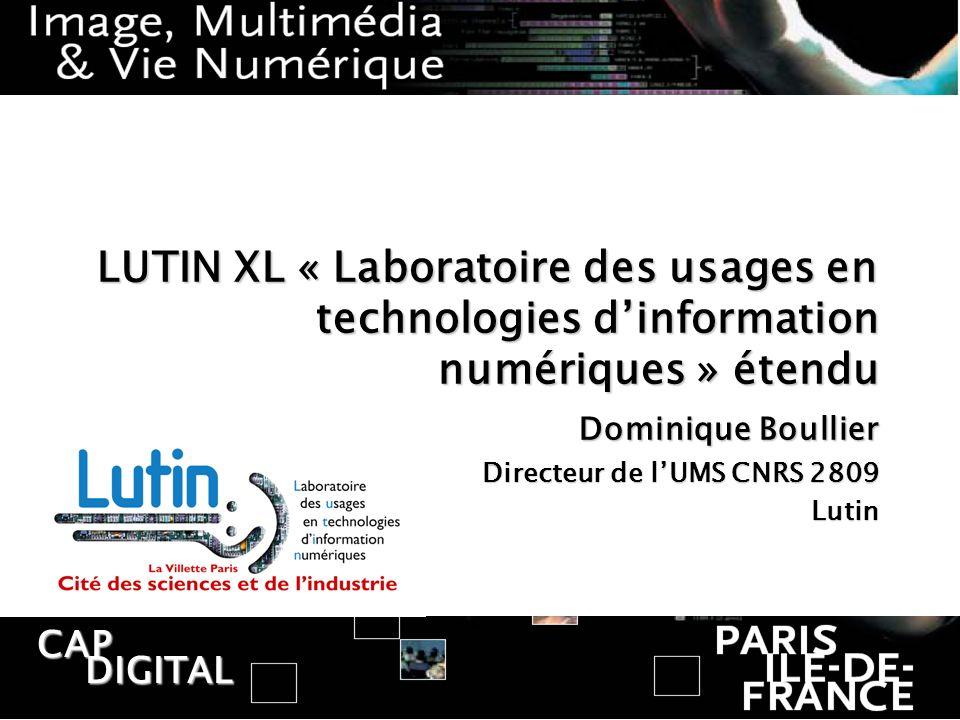 Dominique Boullier Directeur de l'UMS CNRS 2809 Lutin