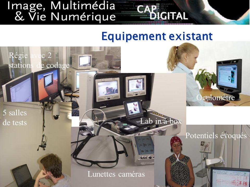 Equipement existant Régie avec 2 stations de codage Oculomètre