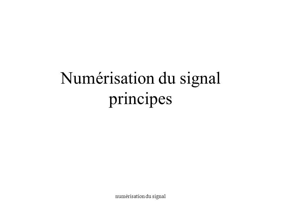 Numérisation du signal principes