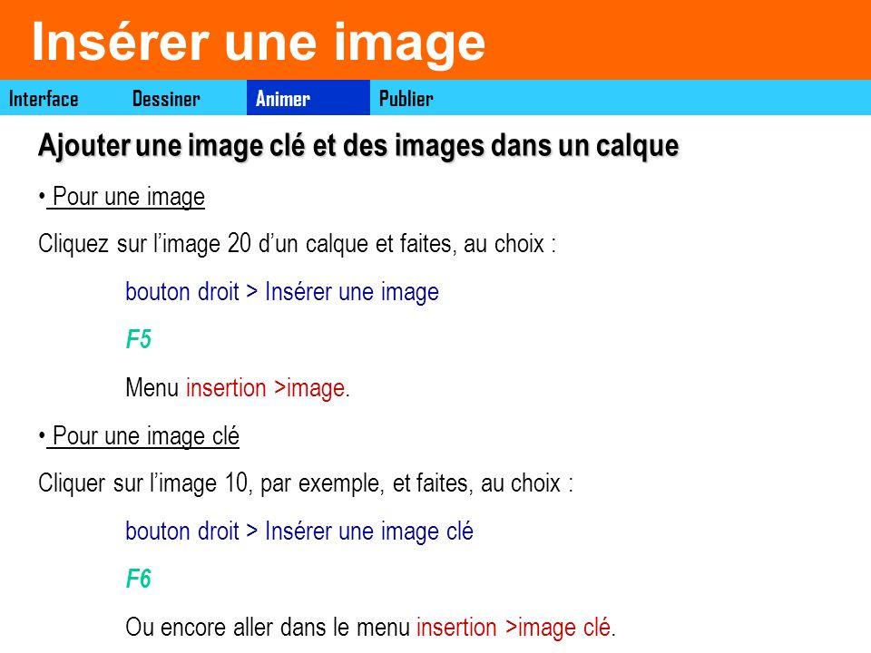 Insérer une image Ajouter une image clé et des images dans un calque