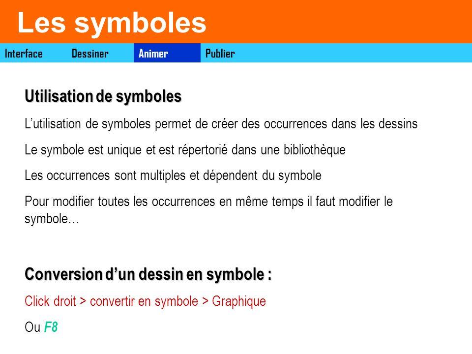 Les symboles Utilisation de symboles