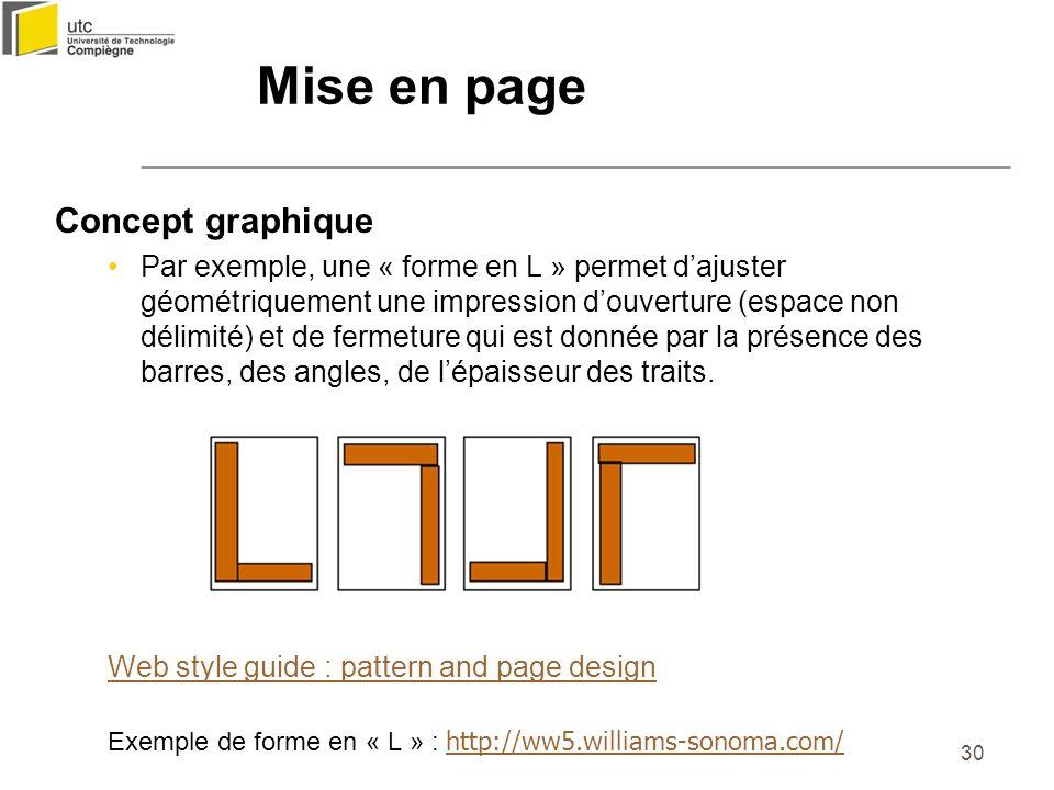 Mise en page Concept graphique