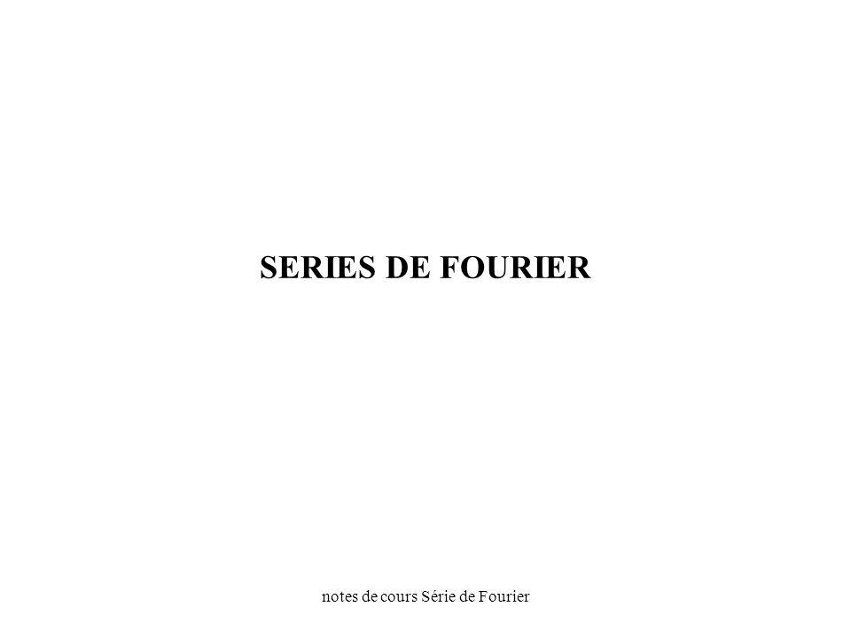 notes de cours Série de Fourier