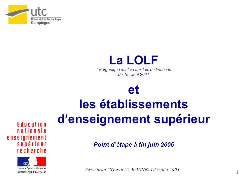 d'enseignement supérieur Point d'étape à fin juin 2005