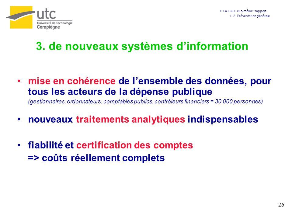 3. de nouveaux systèmes d'information