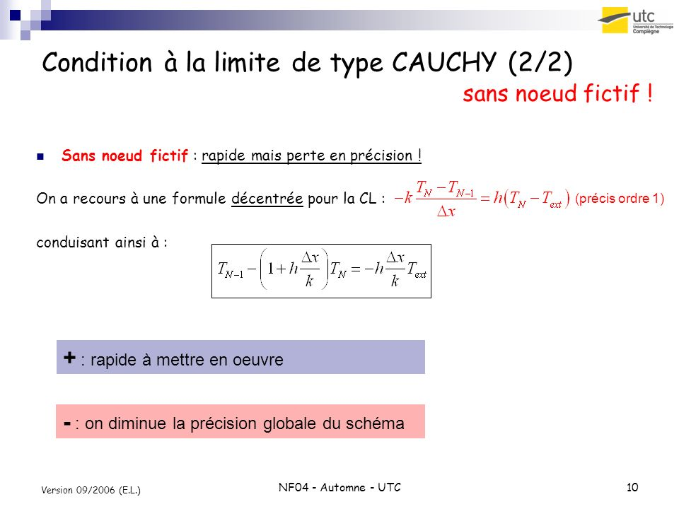 Condition à la limite de type CAUCHY (2/2)