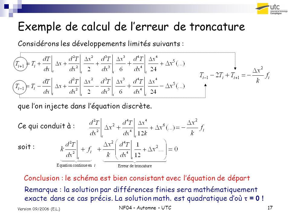 Exemple de calcul de l'erreur de troncature