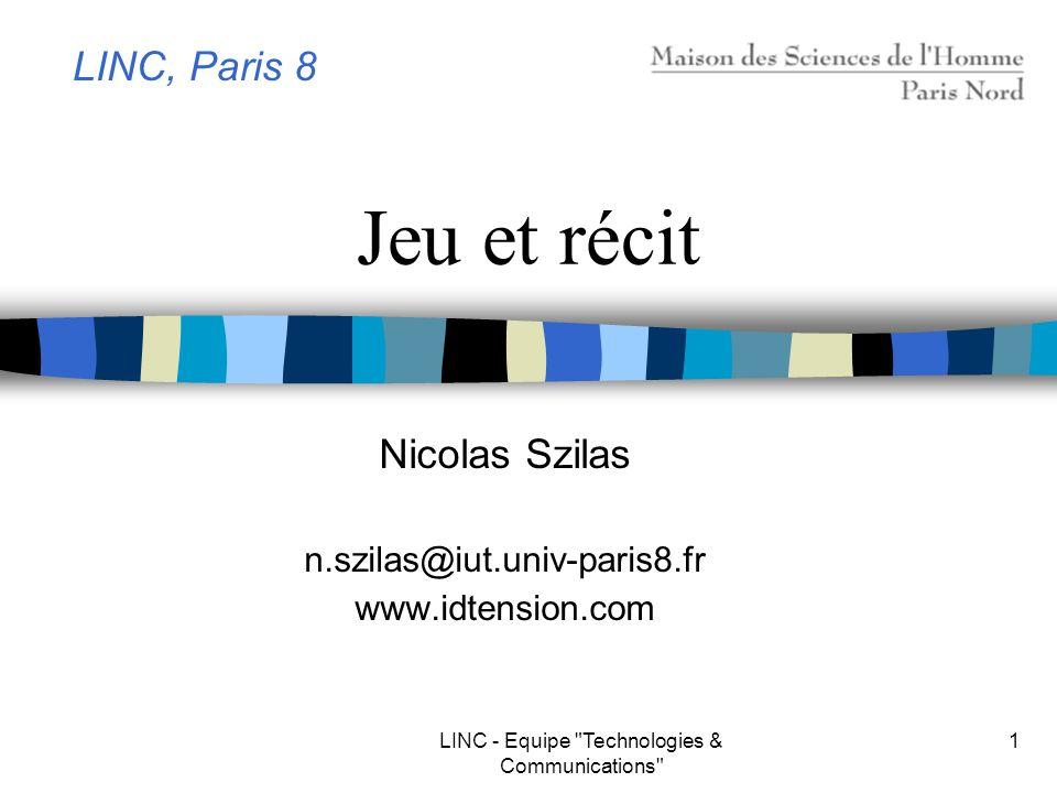 Nicolas Szilas n.szilas@iut.univ-paris8.fr www.idtension.com