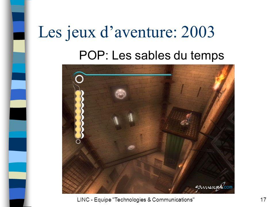 Les jeux d'aventure: 2003 POP: Les sables du temps