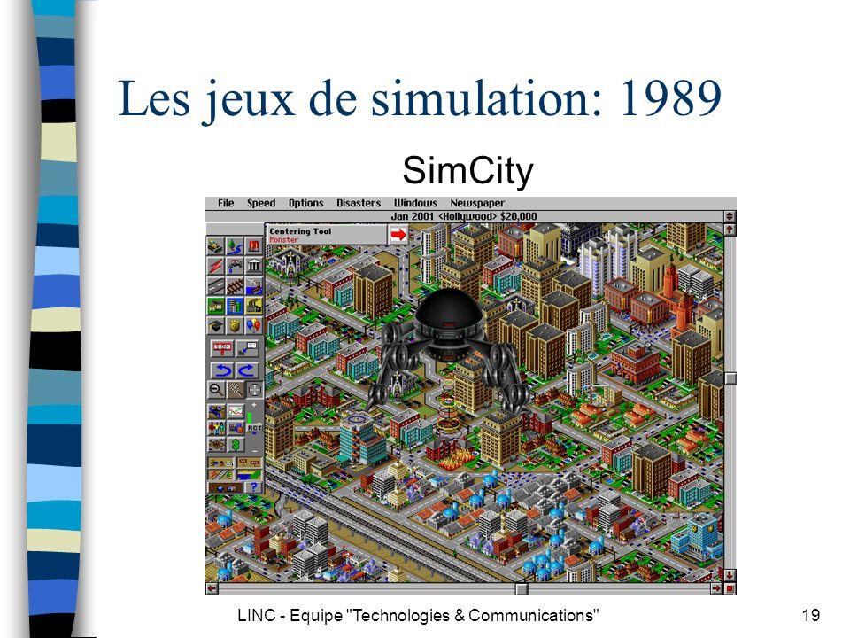 Les jeux de simulation: 1989