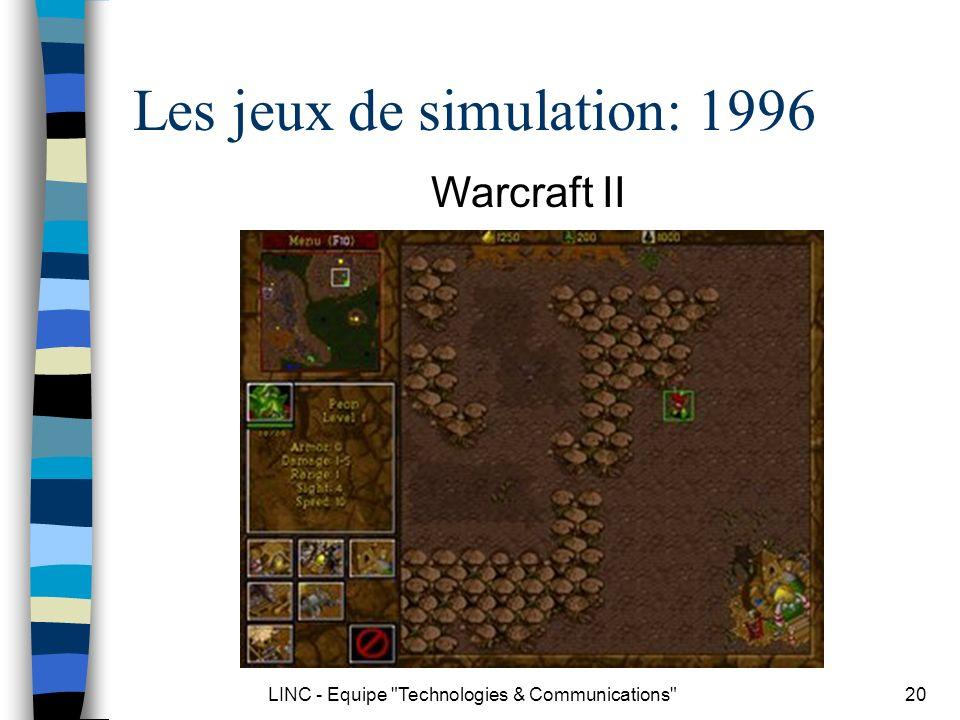 Les jeux de simulation: 1996