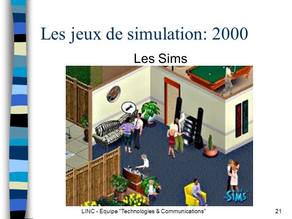 Les jeux de simulation: 2000