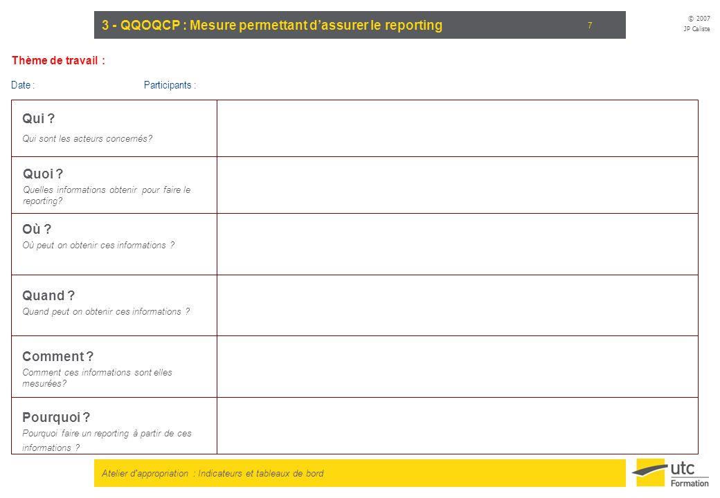 3 - QQOQCP : Mesure permettant d'assurer le reporting