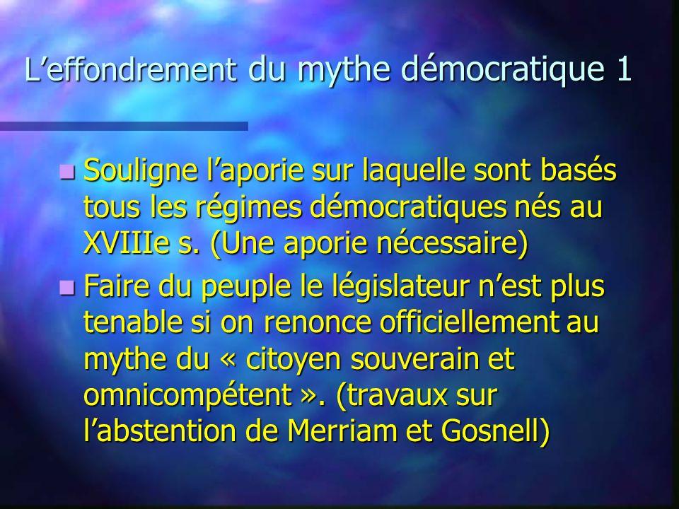 L'effondrement du mythe démocratique 1