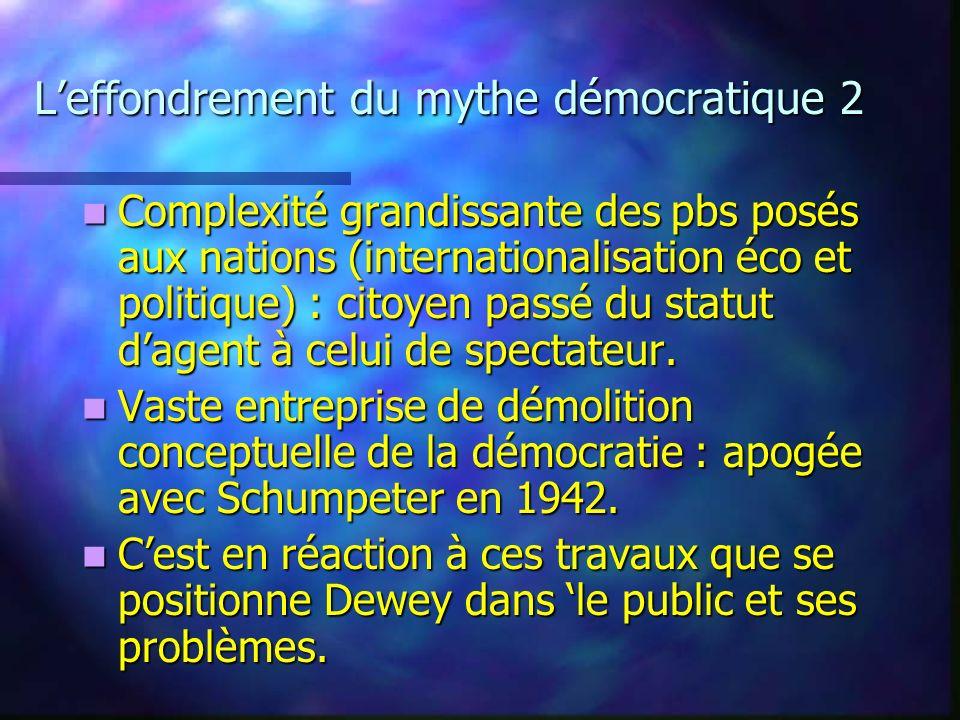 L'effondrement du mythe démocratique 2