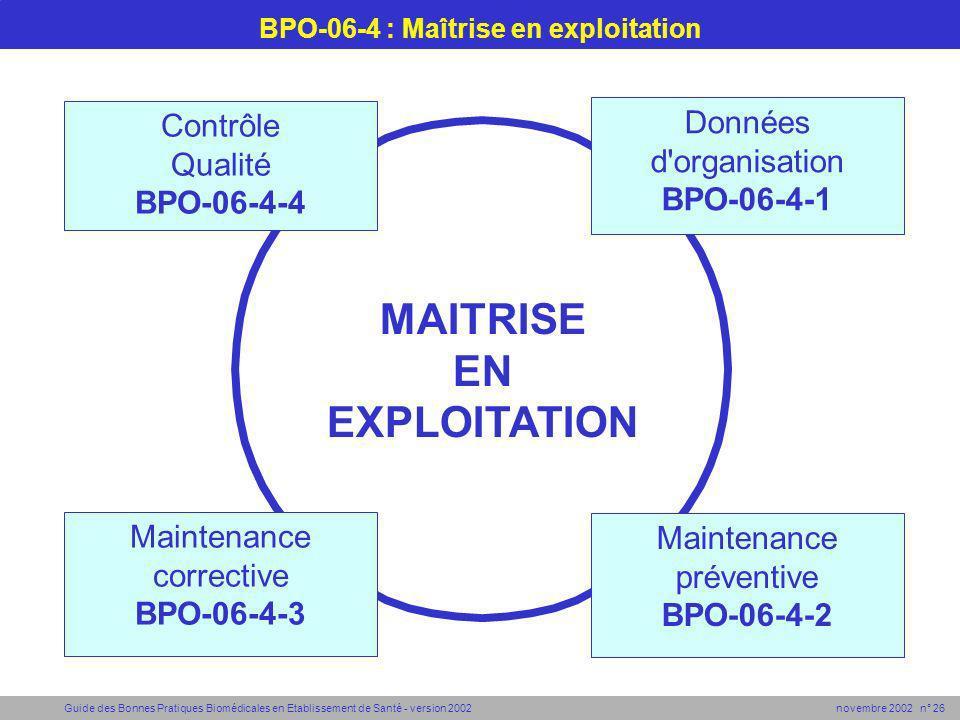 BPO-06-4 : Maîtrise en exploitation