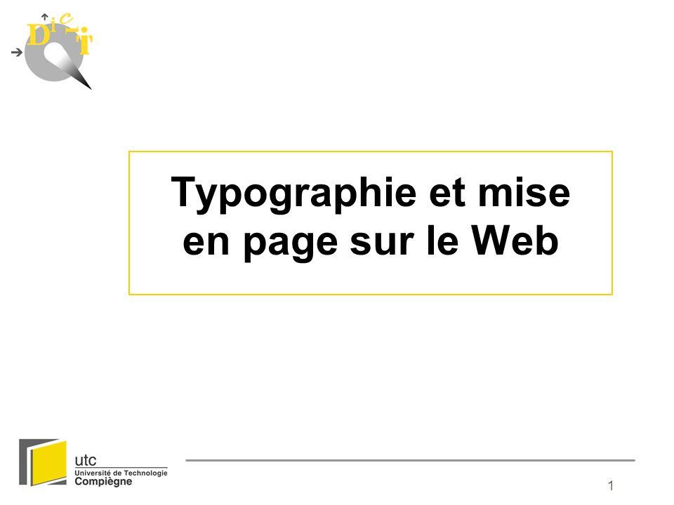 Typographie et mise en page sur le Web