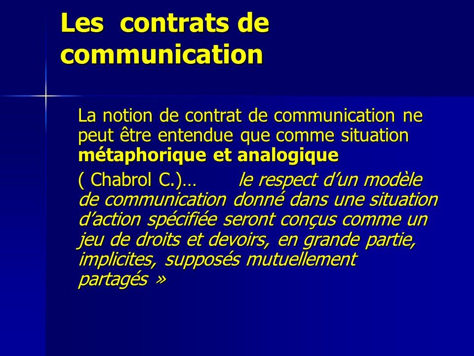 Les contrats de communication
