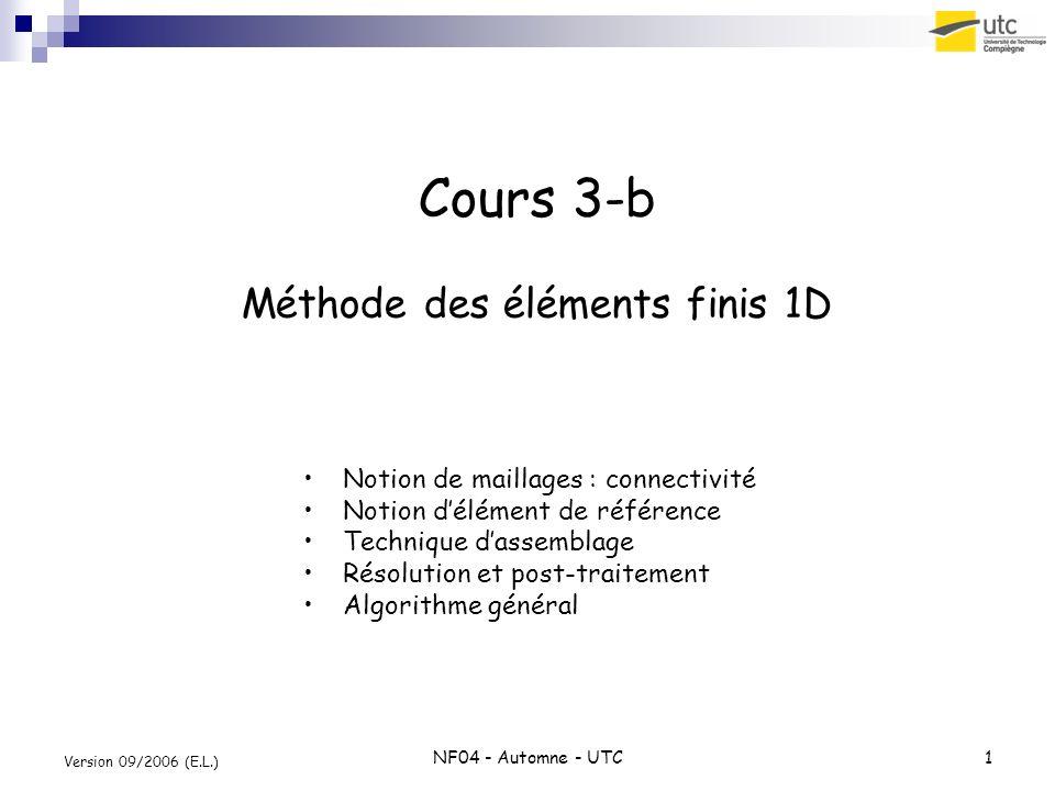 Cours 3-b Méthode des éléments finis 1D
