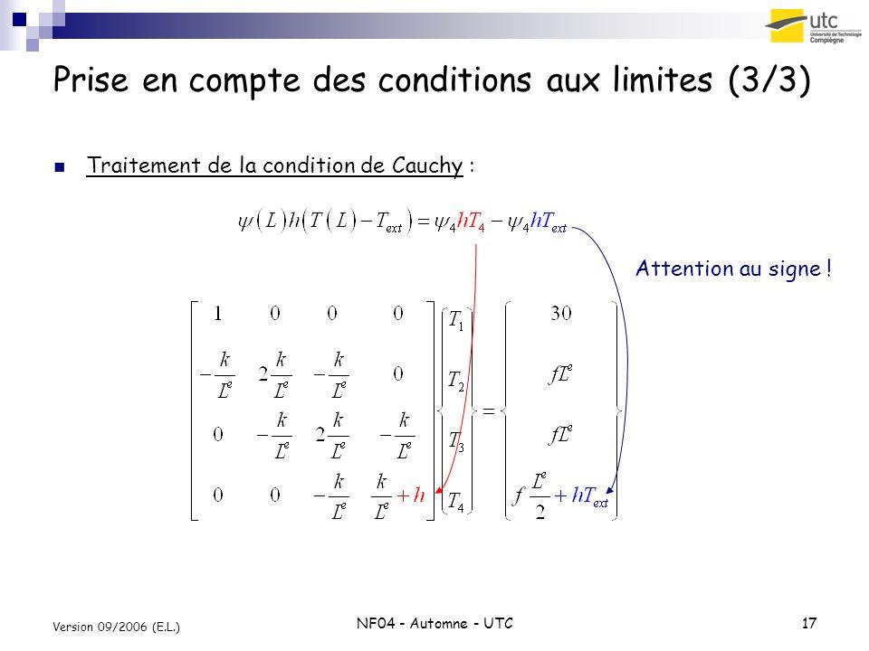 Prise en compte des conditions aux limites (3/3)