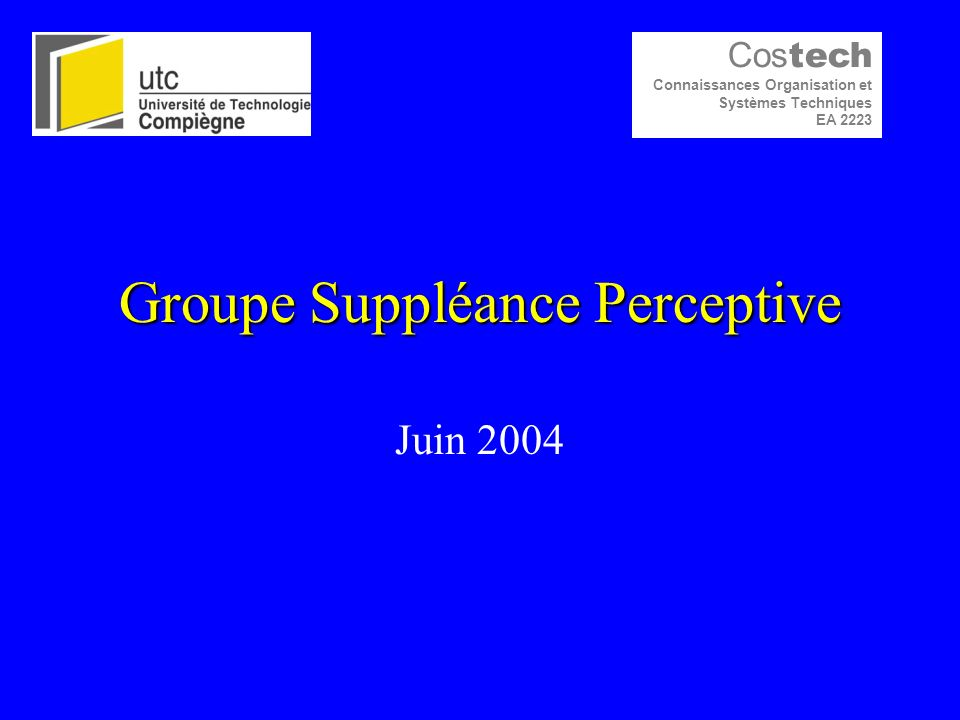 Groupe Suppléance Perceptive