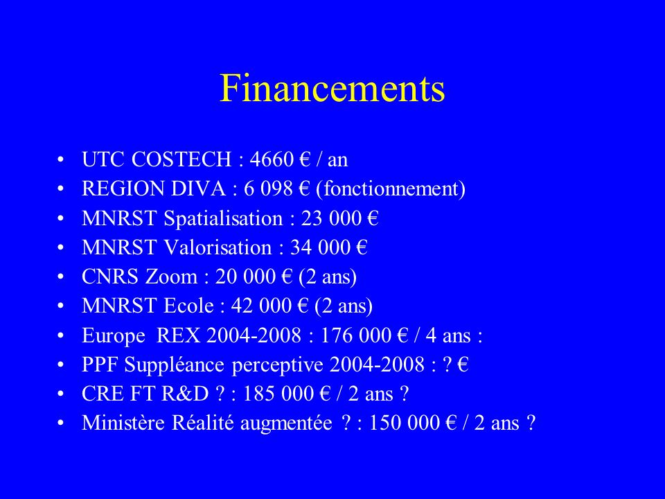 Financements UTC COSTECH : 4660 € / an