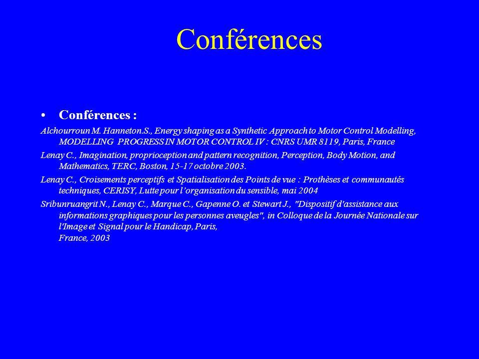 Conférences Conférences :