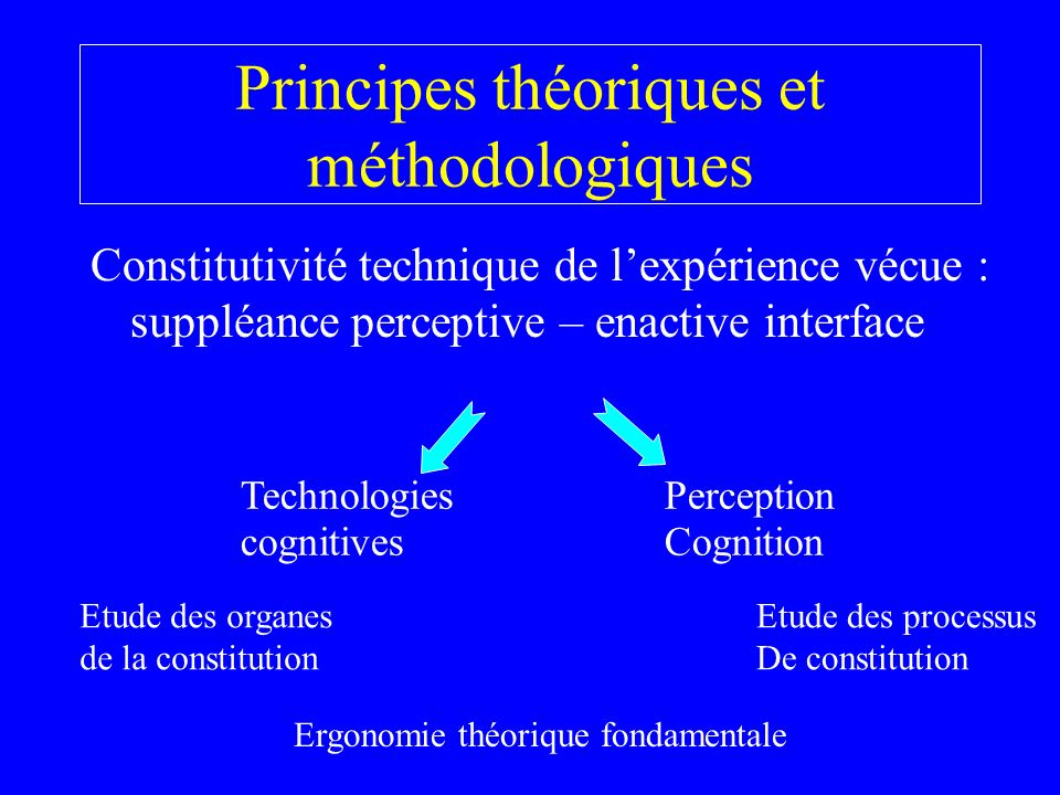Principes théoriques et méthodologiques