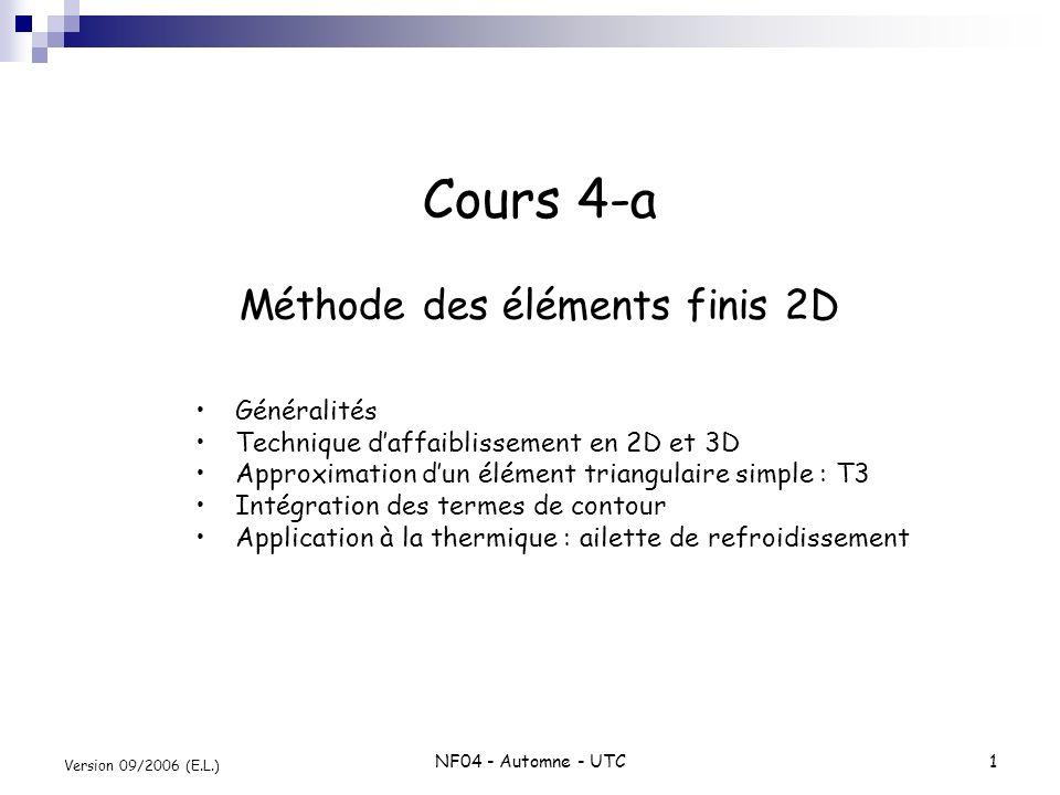 Cours 4-a Méthode des éléments finis 2D