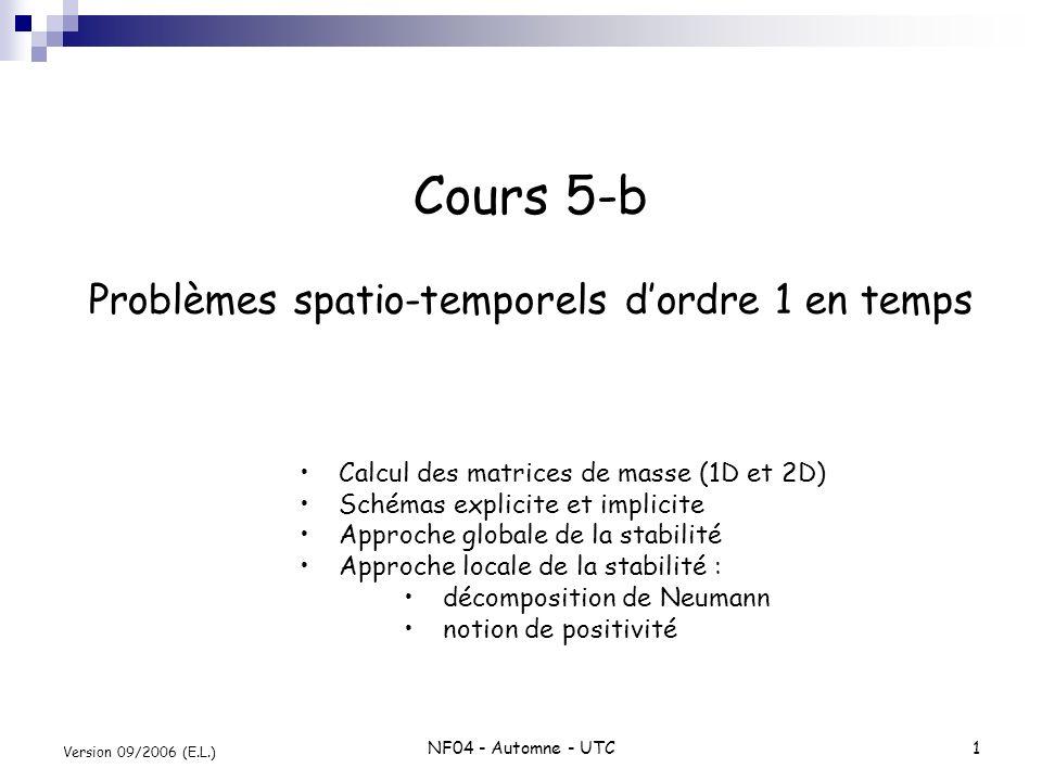 Cours 5-b Problèmes spatio-temporels d'ordre 1 en temps