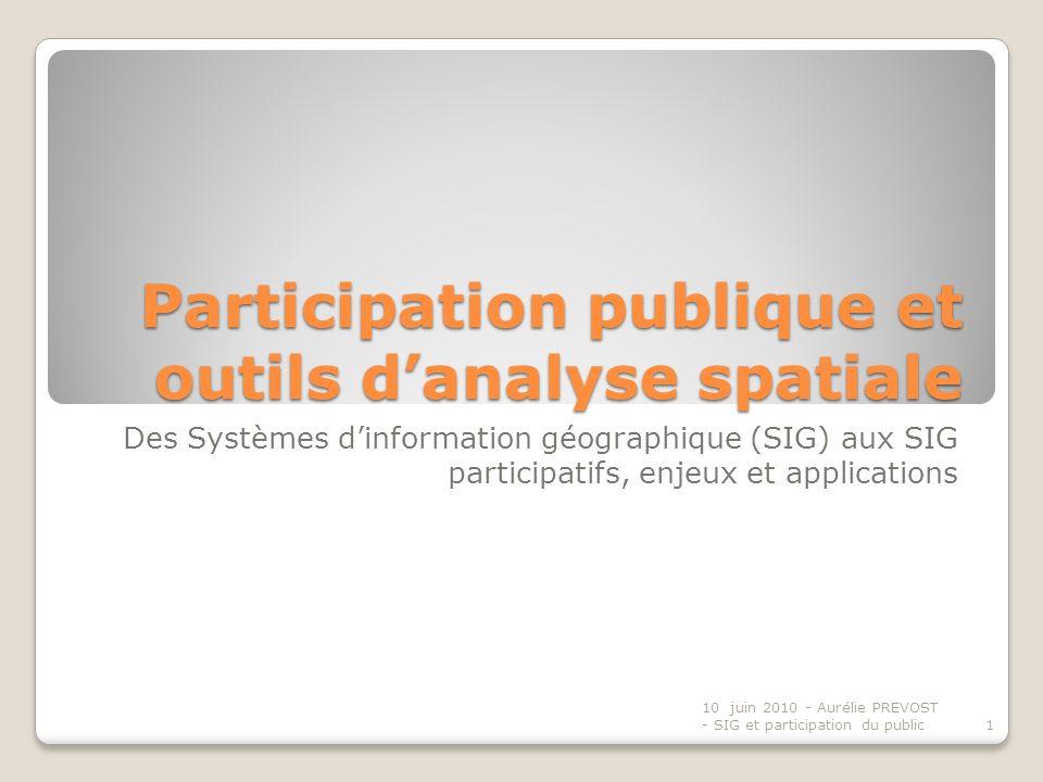 Participation publique et outils d'analyse spatiale
