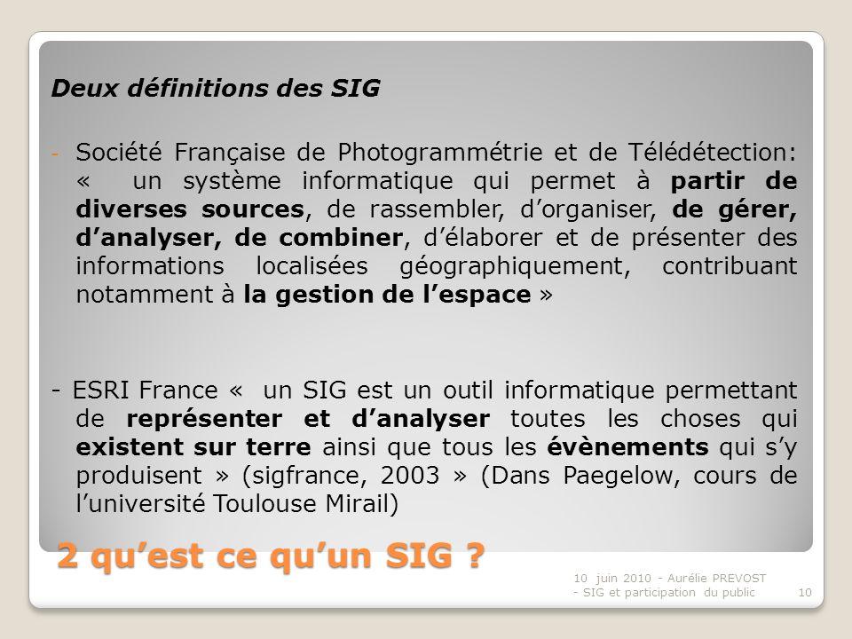 2 qu'est ce qu'un SIG Deux définitions des SIG