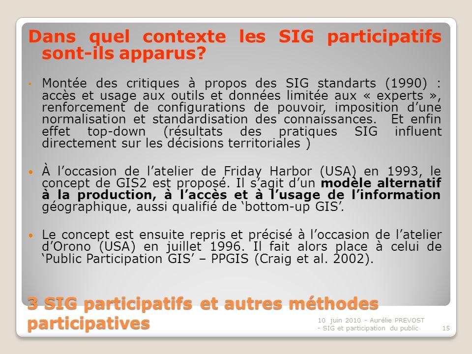 3 SIG participatifs et autres méthodes participatives